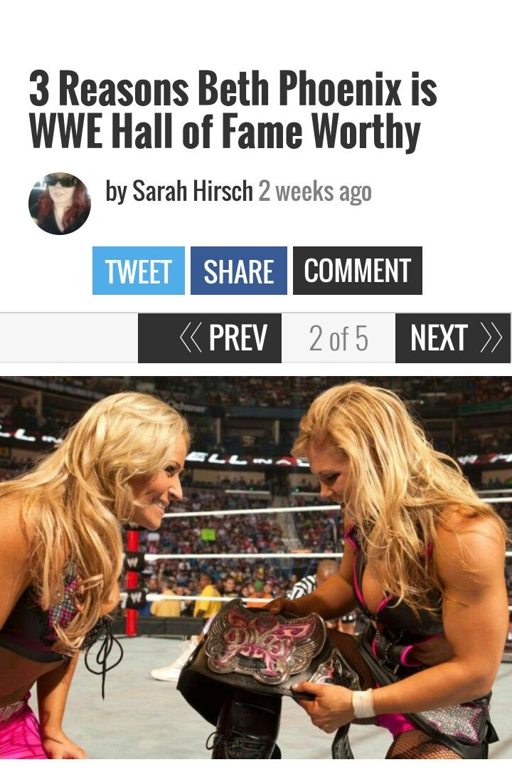 3 Reasons Why Beth Phoenix is WWE Hall of Fame Worthy