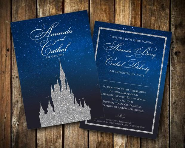 20 Oh So Pretty Winter Wedding Invitations | Disney wedding