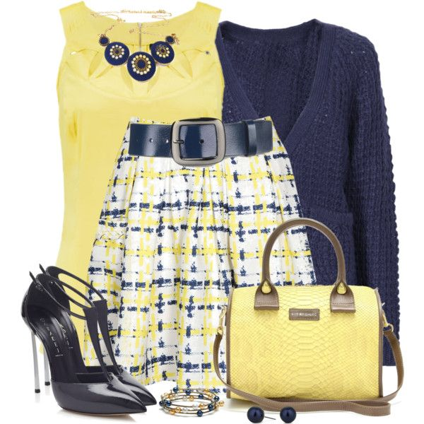 Skater Skirt & Pumps, created by daiscat on Polyvore