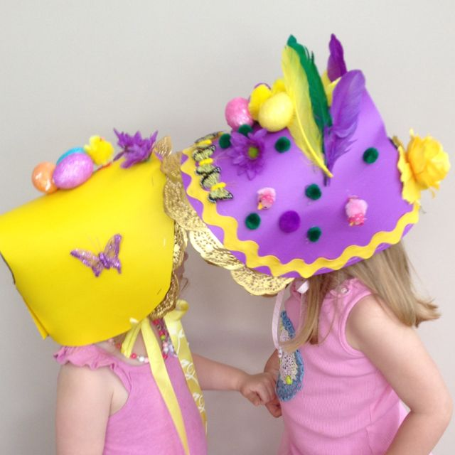 Easter bonnets - i think i'll let the kids make their own for the contest next year!