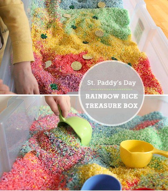 Rainbow Rice Treasure Hunt - Modern Parents Messy Kids