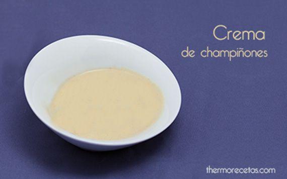 Crema de champiñones, con puerro y patata. Es totalmente vegetariana y gusta a los niños. Se puede sustituir el champiñón por setas.