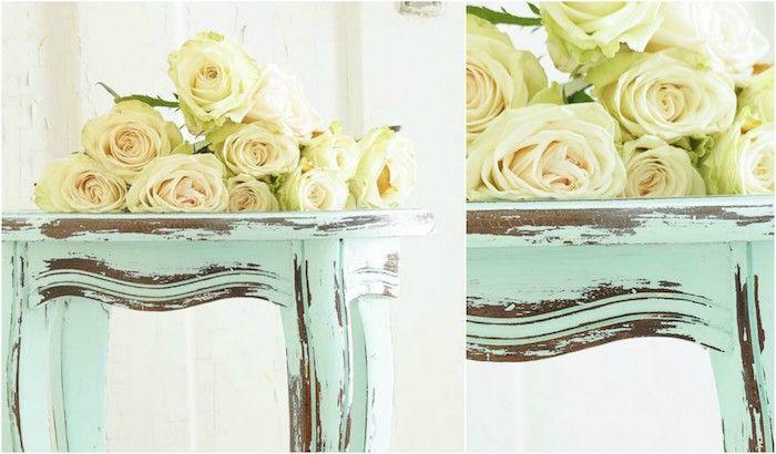 Les 25 meilleures id es de la cat gorie roses blanches sur - Table basse repeinte ...