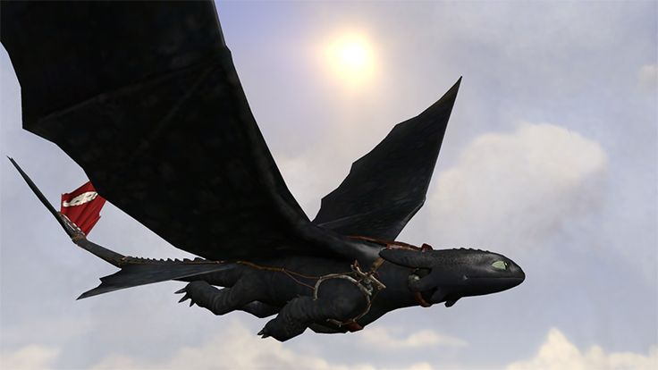 HTTYD toothless flying with out hiccup | TOOTHLESS | Pinterest
