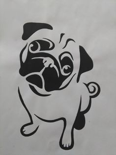 Pug Painting by AriEagle on Etsy #Pug
