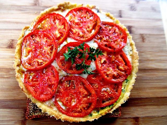 Fresh Tomato Tart with Gorgonzola Cheese