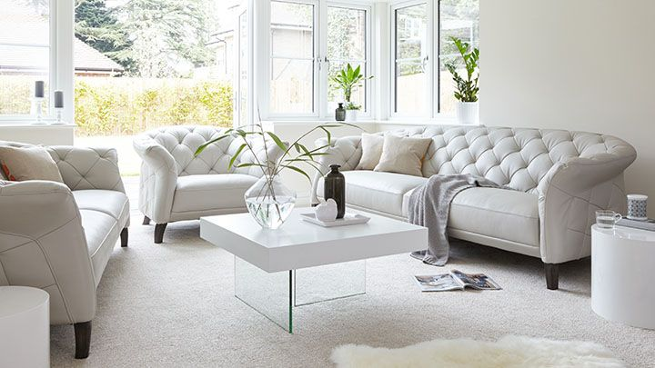 Modern 3 Seater Leather Chesterfield Sofa | UK