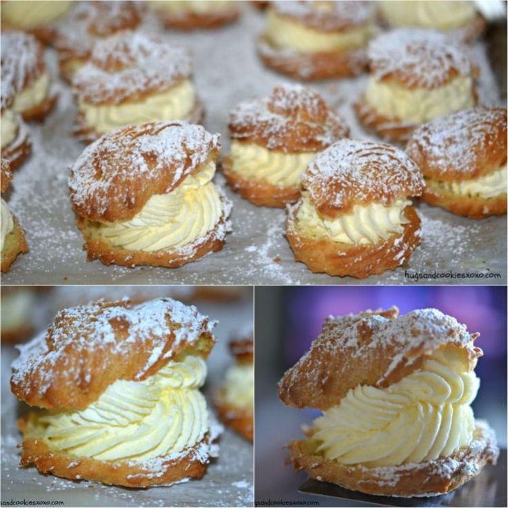 Homemade cream puffs recipe