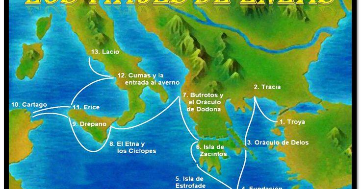 El viaje de Eneas. Eneida