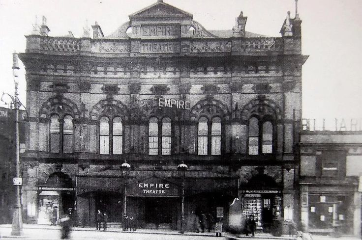 Original Empire Theatre, Liverpool, opened by the Prince of Wales in 1866.