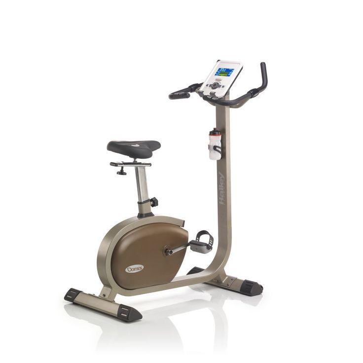 Bicicleta Estática Halley Domos Upright. 20 programas de entrenamiento. 16 niveles de resistencia.  #bicicletaestatica