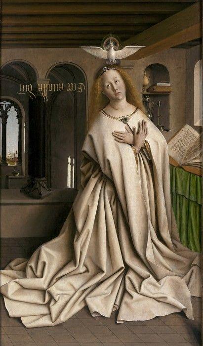 Дева Мария Благовещения. Ян ван Эйк