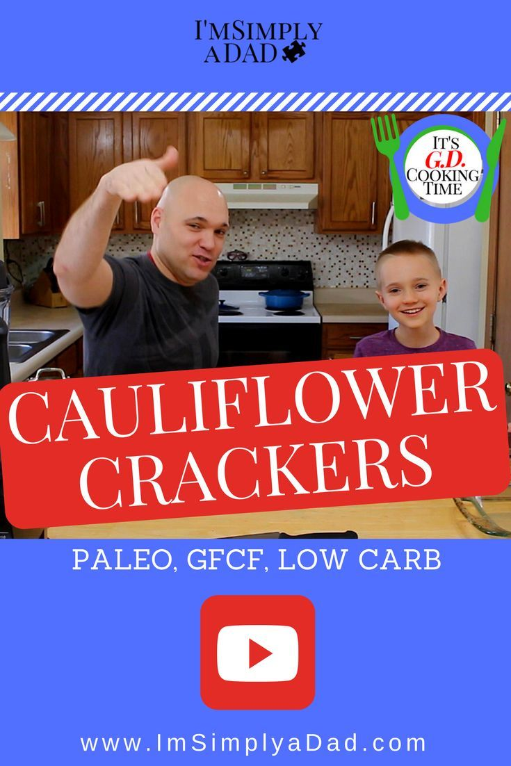 Cauliflower crackers (gluten free, paleo, GFCF)  Cauliflower can be delicious. Even your kids will think so. Believe me!  This cauliflower cracker recipe is not just super healthy. These cauliflower crackers are insanely tasty too. AND, these low carb crackers will fit almost any diet: paleo, gluten free, GFCF, keto, Whole 30…etc.