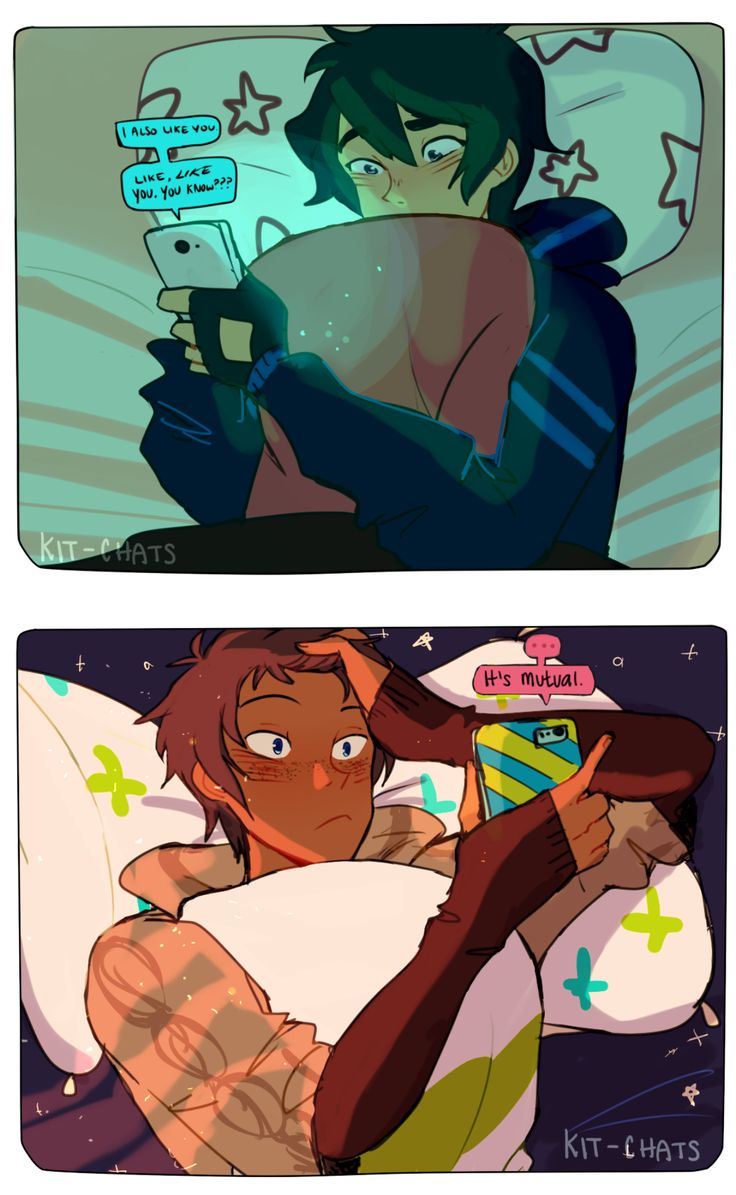 THIS IS A SCENE FROM THE KLANCE FANFIC - Call me, beep me by safra - I LOVE IT