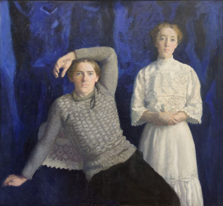 Károly Ferenczy (Hungarian 1862–1917) [Impressionism, Realism, Academicism] Double Portrait (Béni and Noémi), 1908. Hungarian National Gallery, Budapest.