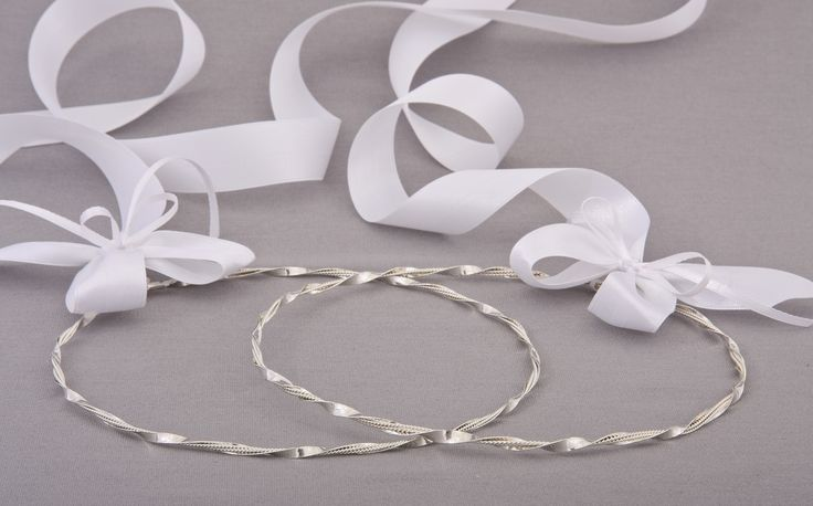 Greek Wedding Shop - Modern Platted Twist Stefana. Wedding Crowns for your Greek Orthodox wedding ceremony (http://www.greekweddingshop.com/modern-platted-twist-stefana/)
