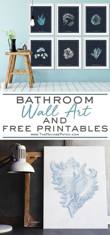 bathroom wall art and free printables diy home decor bathroom rh pinterest com