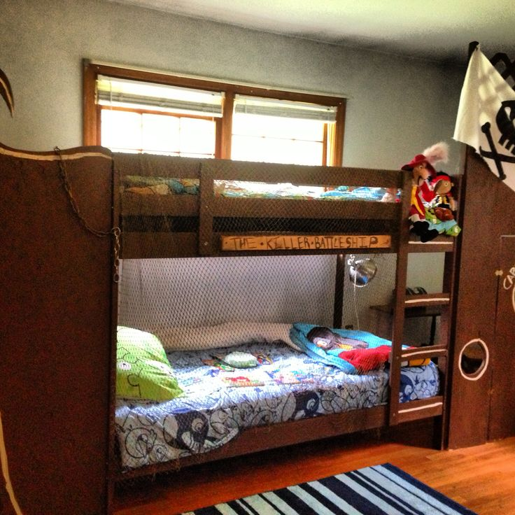 DIY Pirate ship bunk bed Bunk beds, Kid beds, Bed