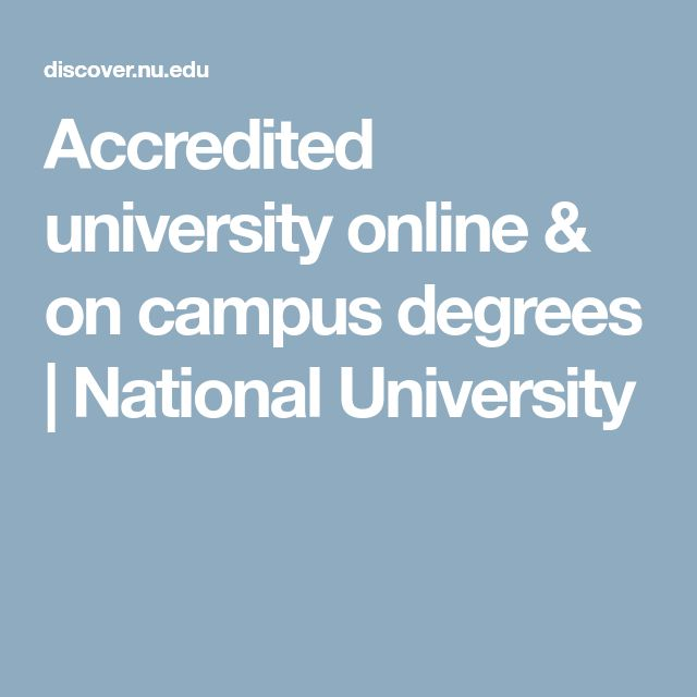Accredited university online & on campus degrees | National University