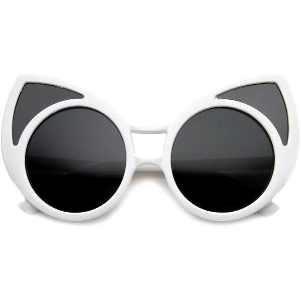 0e725ca6a2320 Women s Trendy Oversize Round Cat Eye Window Sunglasses 9766 (32 BRL) ❤  liked on