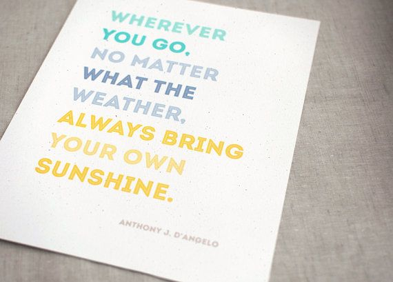 Sunshine Quote Eco by HappyDappyBits