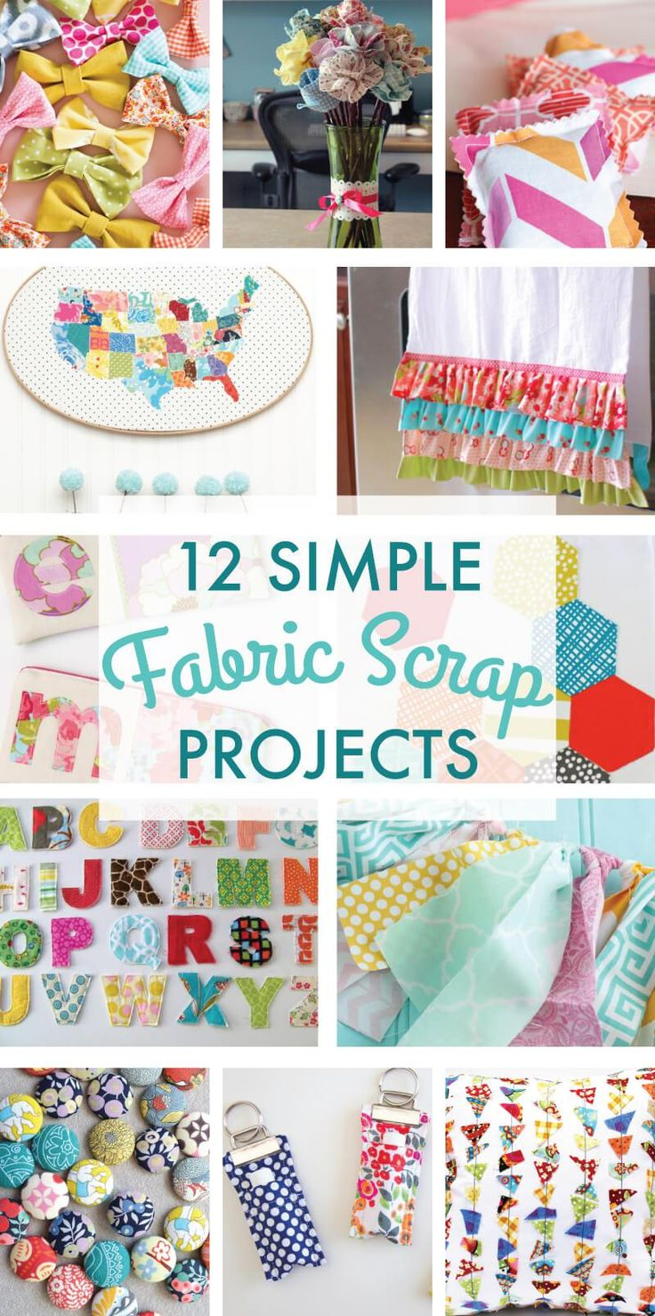 12 Simple Scrap Fabric Projects on Love the Day