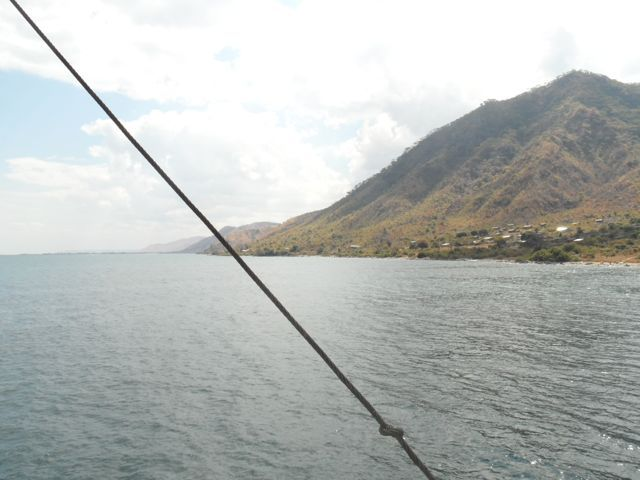 Looking north from #Metangula while on board the #Ilala. Somehow the hills look different than the Malawi side...