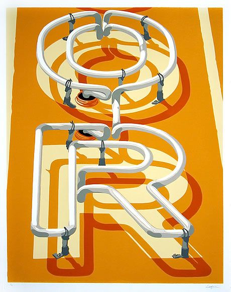 Artist Dave Lefner.  Reduction linocut in 8 colors.  Rep'ed by Skidmore Contemporary Art. #linocut
