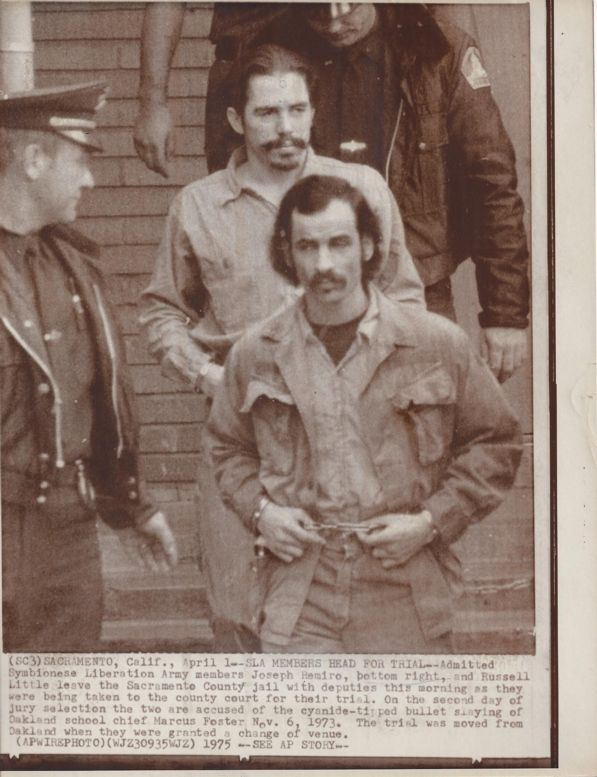 [Symbionese Liberation Army]  Wire Photo – SLA Members Head for Trial - 1975