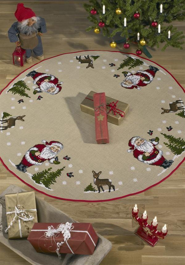 Rundt Juletræstæppe