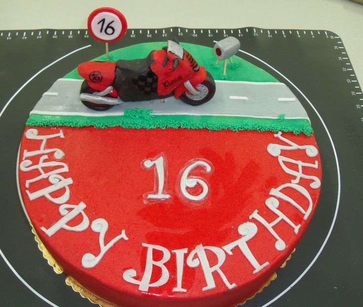 Motorrad Torte zum Geburtstag