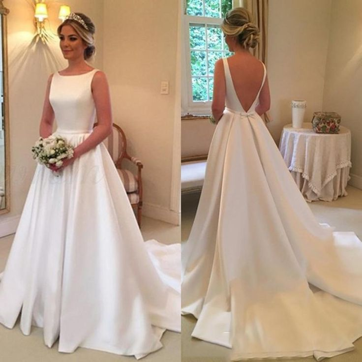 Low cost Glamorous Easy Scoop Neck White A Line Wedding ceremony Attire Attractive Backless Lengthy Bridal Wedding ceremony Robes Bride Gown De Mariage Vestidos De Noiva A Line Strapless Wedding ceremony Costume A Line Strapless Wedding ceremony Attire From Luyancheng, $217.09| DHgate.Com