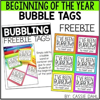 Bubble Tags- These tags are perfect for a beginning of the year student gift. Simply, print and tie to a container of bubbles or a bubble wand!
