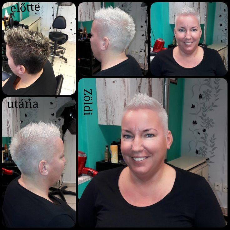#zöldiszilvia #munkám #mywork #hajvágás #haircut #hajfestés #haircolor #lovemyjob #imádomamunkám #matrix #matrixhair #matrixcolor