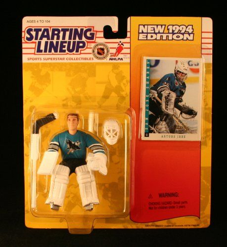 ARTUS IRBE  SAN JOSE SHARKS 1994 NHL Starting Lineup Action Figure  Exclusive Collector Trading Card *** More info could be found at the image url.Note:It is affiliate link to Amazon.