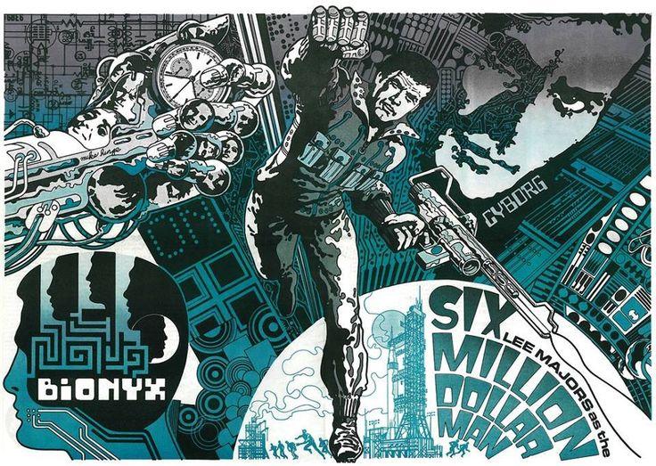 The Six Million Dollar Man by Jim Steranko. https://uk.pinterest.com/papageorgantis/inkwork/