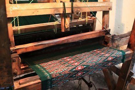 the making of tenun, indonesia
