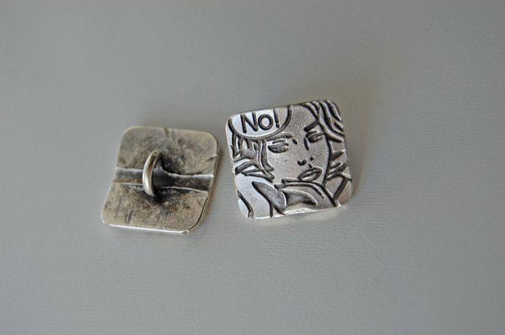 Metal Buttons – comic girl -metal button – a unique product by thesecretgarden…