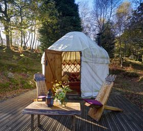 Yurts, Glamping in Wales - Graig Wen - accommodation in Snowdonia National Park, near Barmouth and Dolgellau, North Wales.