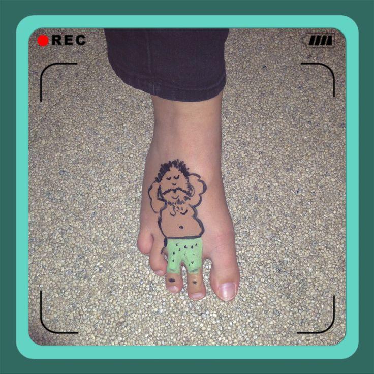 Funny foot schmink
