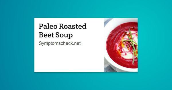 Paleo Roasted Beet Soup