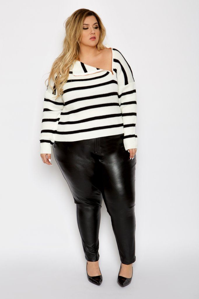 29eb021d Plus Size Sweater with Zipper - Astra Signature | Plus Size Fashion ...