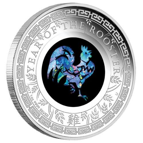 Clever use of genuine Australia Opal makes this a unique Year of the Rooster release | Australian Opal Lunar Series – 2017 Year of the Rooster 1oz Silver Proof Coin | The Perth Mint