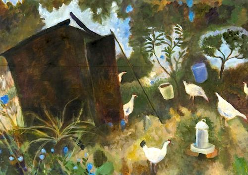 bofransson: Tessa Newcomb (British, born 1955) 'Allotment No. 5'
