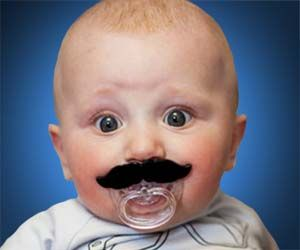 Your baby might not be able to grow a full mustache yet, but that is no excuse for leaving his upper lip exposed to the harsh elements. Now, with the mustache pacifier you can give your baby a bold and distinguished look so all the other newborns will fear and respect him.