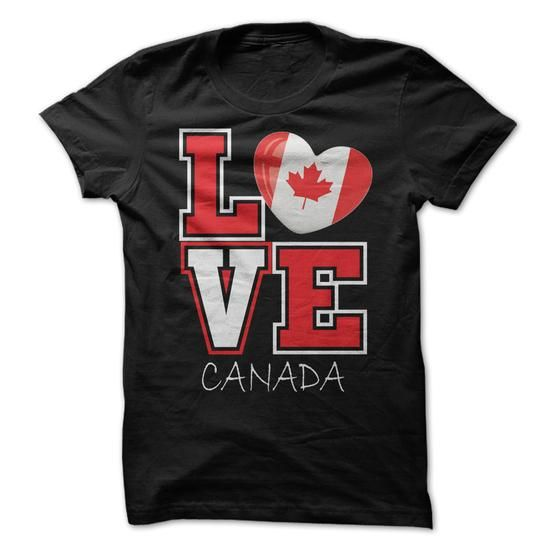 Love Canada Flag T-Shirt T-Shirts, Hoodies (19$ ==► Shopping Now!)