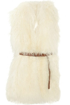 """Not a huge fan of the """"furry vest,"""" but I have to say, I love the look of this one!  (Michael Kors)"""