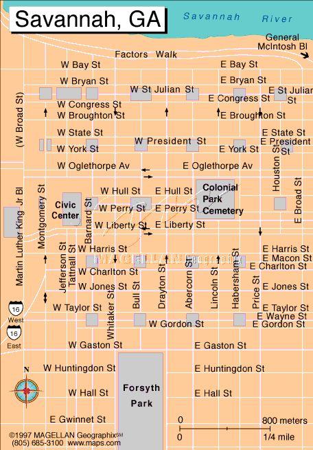 Savannah Georgia Map