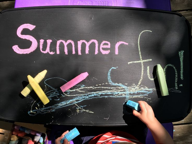 Children's Chalkboard Table