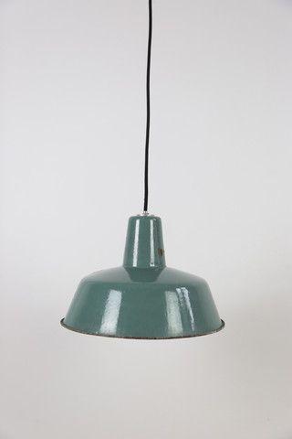 Enamelled vintage lamp